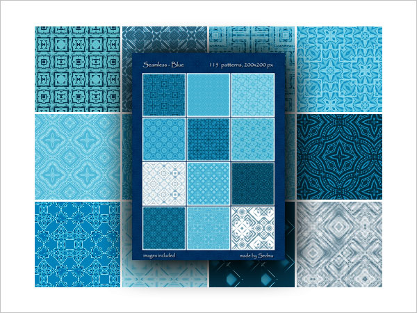115 Seamless Blue Patterns