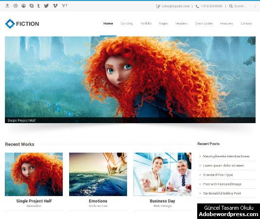 Fiction WordPress Teması