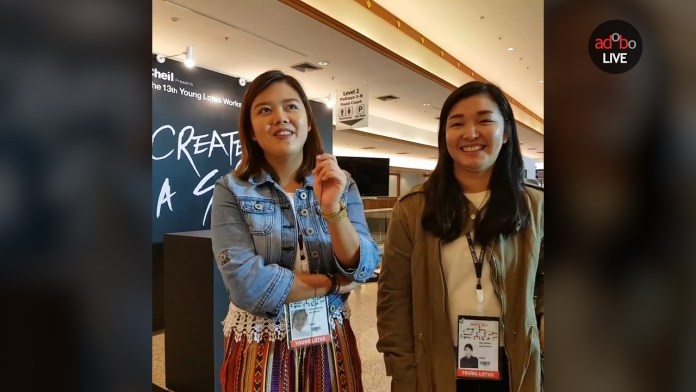 ADFEST 2017: Isai Martinez and Eira Gemanil of BBDO Guerrero, Young Lotus PH representatives