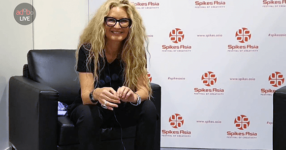 adoboLIVE! Kate Stanners, Global Creative Director for Saatchi & Saatchi at Spikes Asia 2017