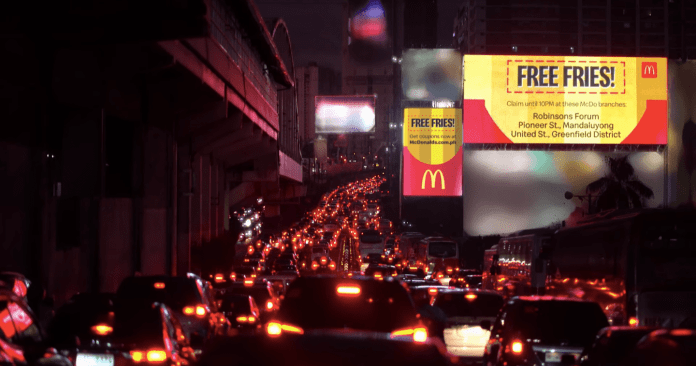 Campaign Spotlight: McDonald's Surprised Motorists on Payday Friday with Free Fries, Partnering with Leo Burnett Manila