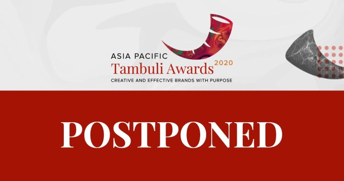 APAC Tambuli 2020: Awards Show on Creative and Effective Brands with Purpose Postponed Due to COVID-19 Pandemic