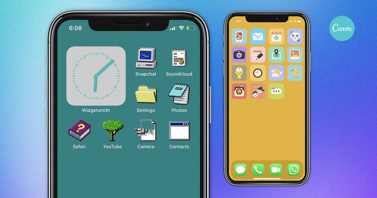 Design Canva Launches New Collection Of Free Home Screen Icon Pack For Ios 14 Adobo Magazine Online