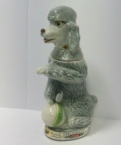 Jim Beam Poodle Decanter Front- Dog's Tale Collectibles