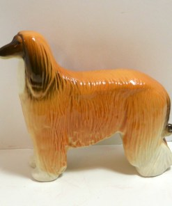 Afghan Hound Dog Figurine Russian Side 1- Dog's Tale Collectibles