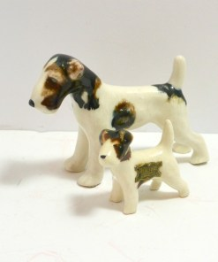 Grindley Ware Pair of Wire-Haired Fox Terriers Front 3- Dog's Tale Collectibles