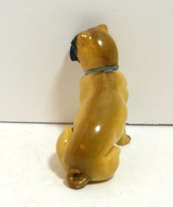 Antique German Dresden Pug Dog Back- Dog's Tale Collectibles