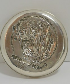 Silver Repousse Mastiff Dog 11- Dog's Tale Collectibles