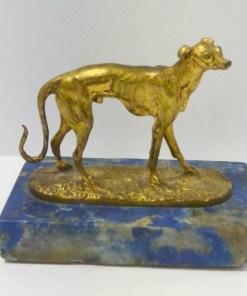 Mene Gilt Bronze Greyhound Dog Side10- Dog's Tale Collectibles