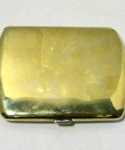 German Silverplate and Enamel Sporting Dog Cigarette Case Back- Dog's Tale Collectibles