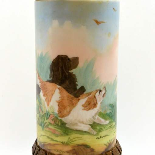 Hand Painted Baccarat Vase