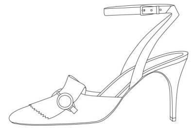 「デザイン画 鉛筆3」をもとにイラストレーターで線画に