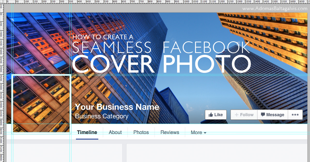 How To Create a Seamless Facebook Cover Photo and Profile Picture Design + Free Template
