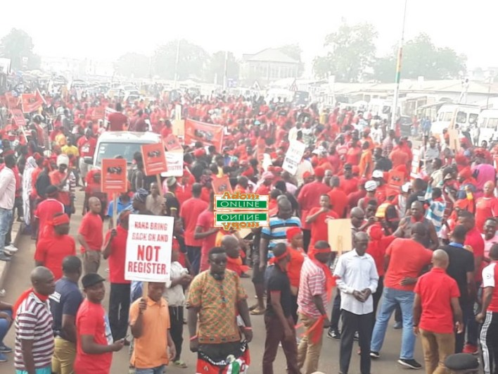 opposition parties demo against new voters register