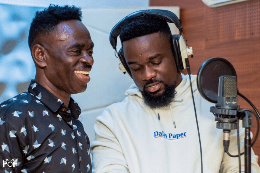 Yaw Sarpong and Sarkodie working in the studio #Ahobrase3