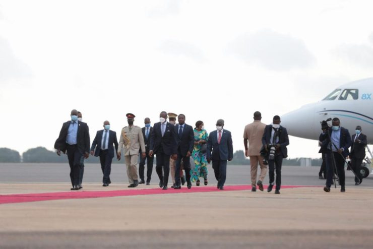 Heads Of State Arrive In Accra For ECOWAS Meeting. 11