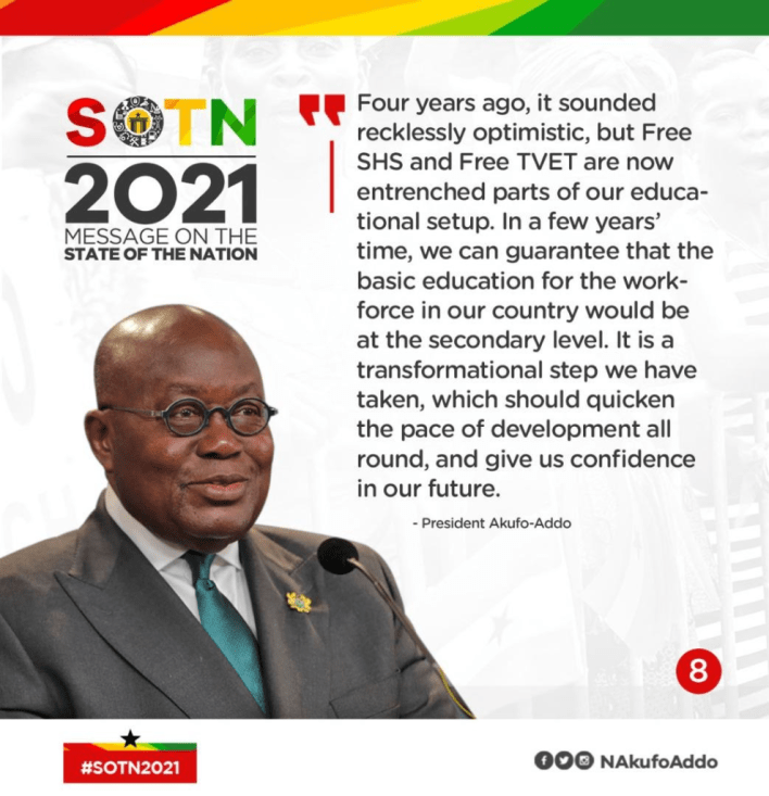 SONA: All Akufo-Addo's speech in infographics 9