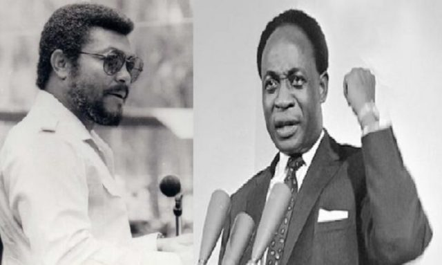 The late Jerry John Rawlings and Kwame Nkrumah