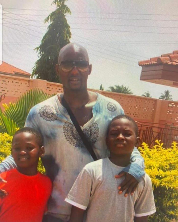Kalsoume Sinare scatters internet with rare photo of hubby, sons 11