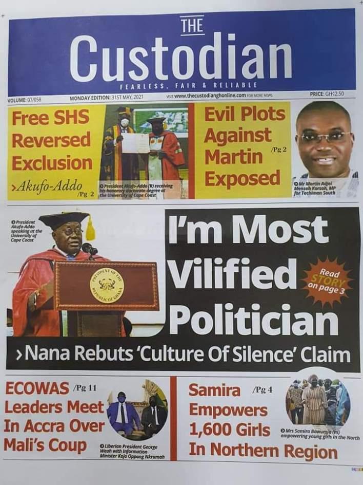 Newspaper Headlines: Monday, May 31, 2021 22