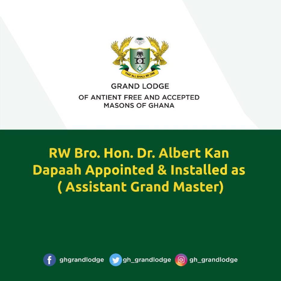 Kan Dapaah installed Assistant Grand Master of Freemasons in Ghana 3