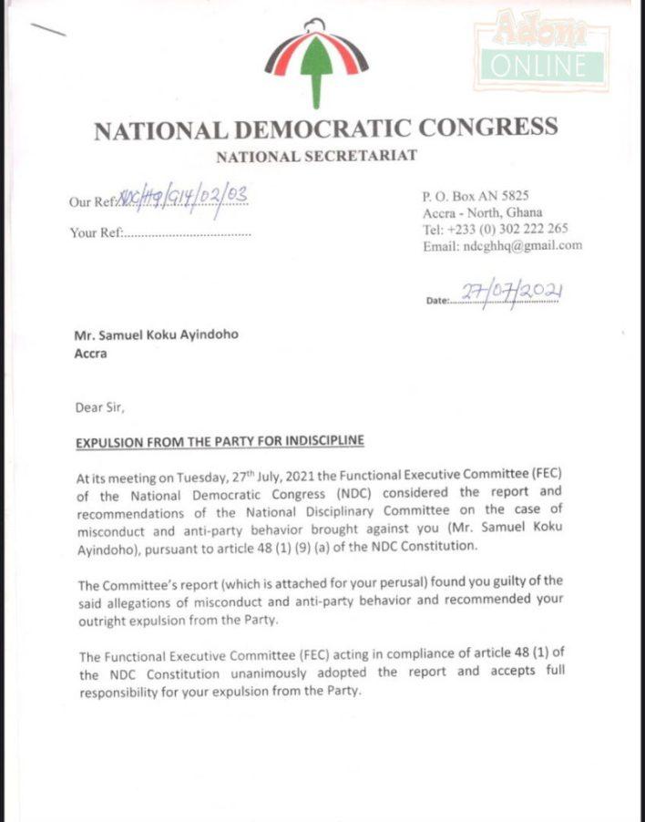 Breaking News: NDC Sacks Koku Anyidoho Orders Him To Return Party Property! 1