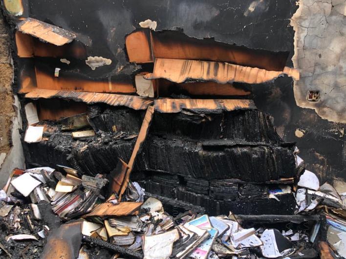 Fire ravages Zenith University [Photos] 4