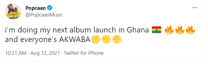 Jamaican music star Popcaan to launch next album in Ghana   Adomonline..com