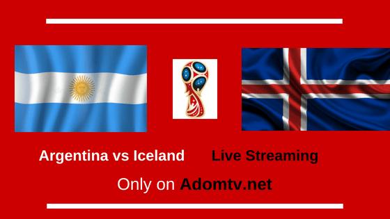 Argentina vs Iceland live streaming logo