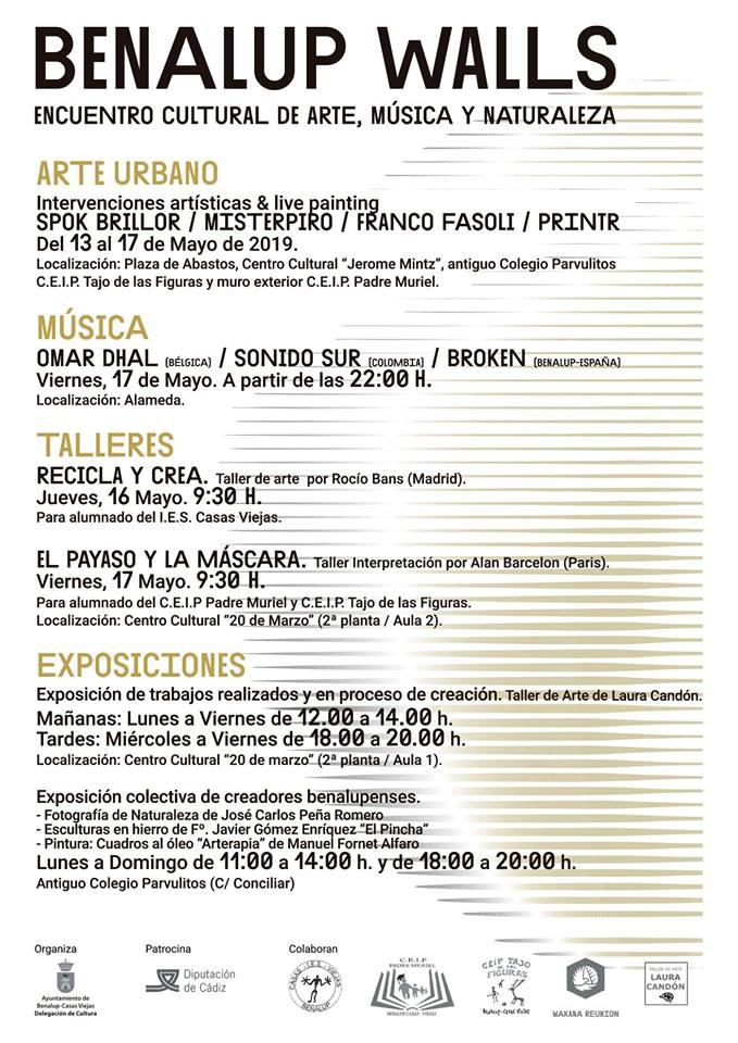 BENALUP WALLS (Encuentro Cultural de Arte, Música y Naturaleza) Del 13 al 17 Mayo 2019 adondevoyconmifamilia agenda para la familia Provincia de cadiz Cádiz niños