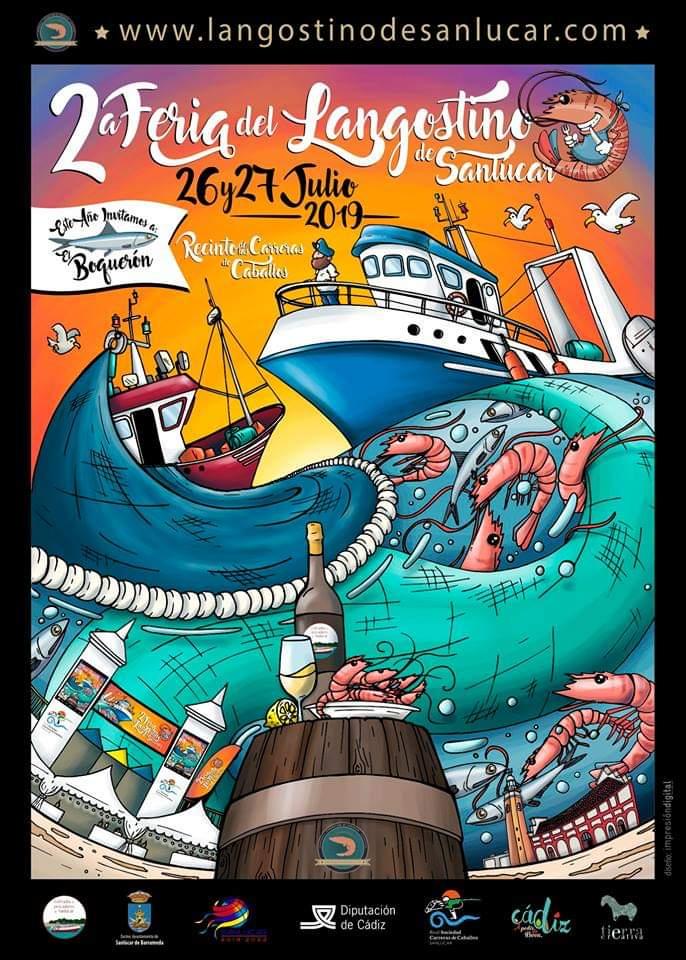 II Feria del Langostino de Sanlucar Del 26 al 27 de Julio de 2019 Cadiz Niños Adondevoyconmifamilia