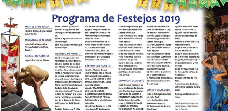 Programación Festejo Moros y Cristianos Benamahoma