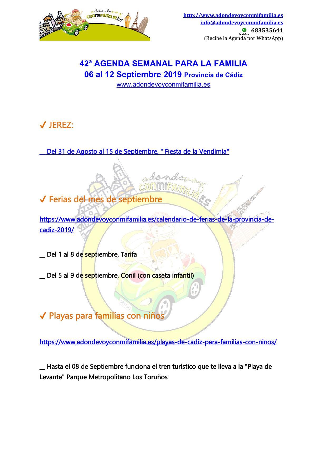 042 Agenda semanal familiar 06 al 12 septiembre 2019
