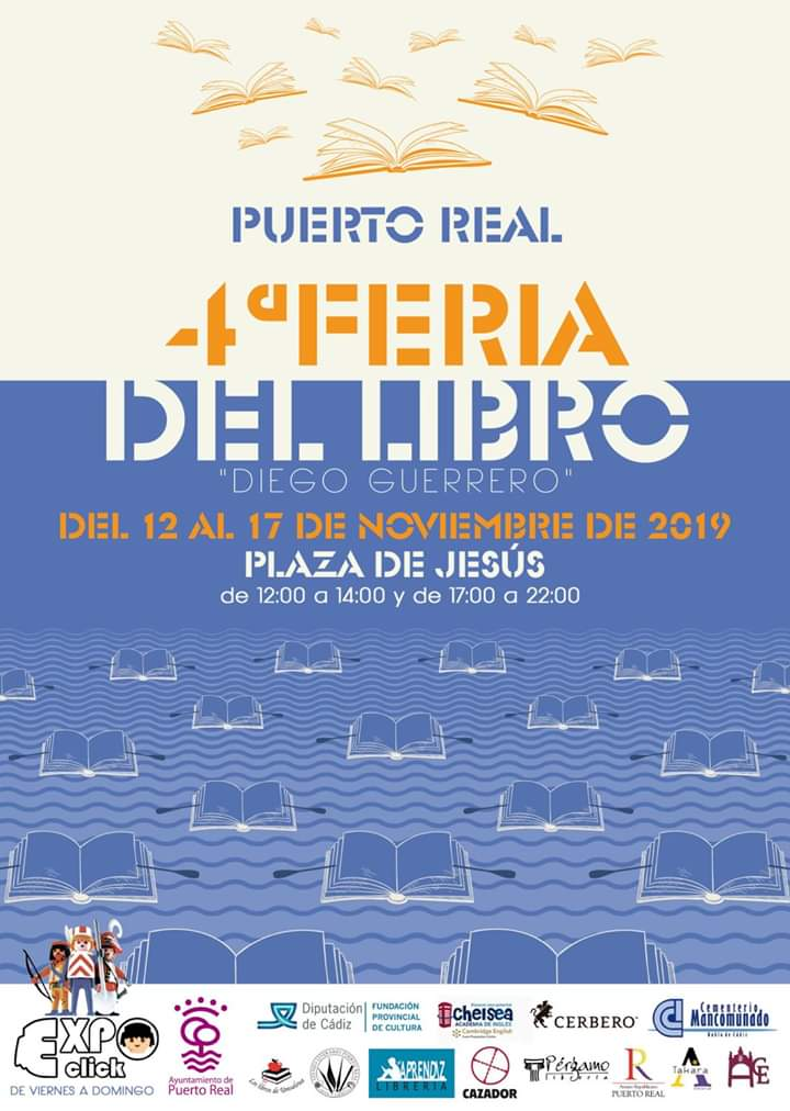 4º FERIA DEL LIBRO Familia con Niños (PUERTO REAL) Del 12 al 17 de Noviembre de 2019