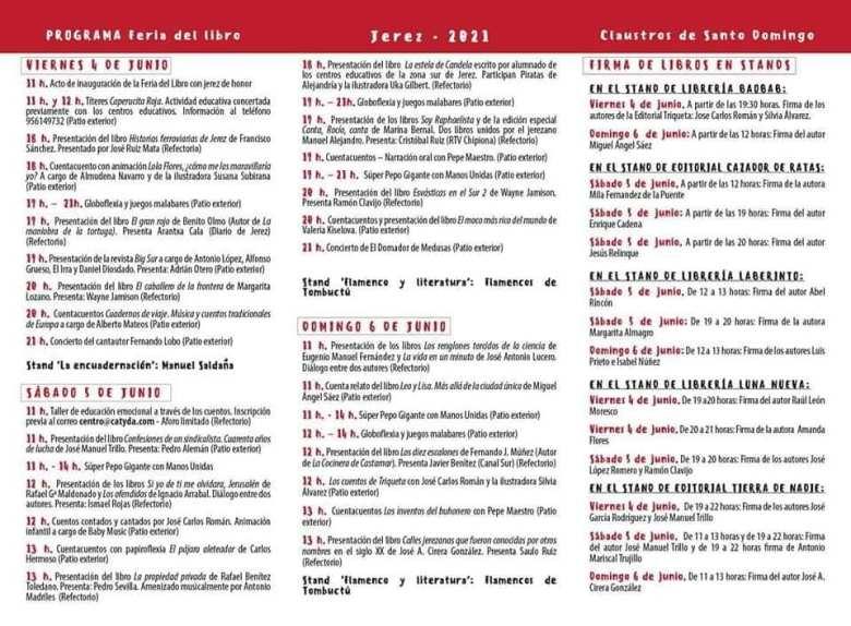 Feria del Libro de Jerez 2021