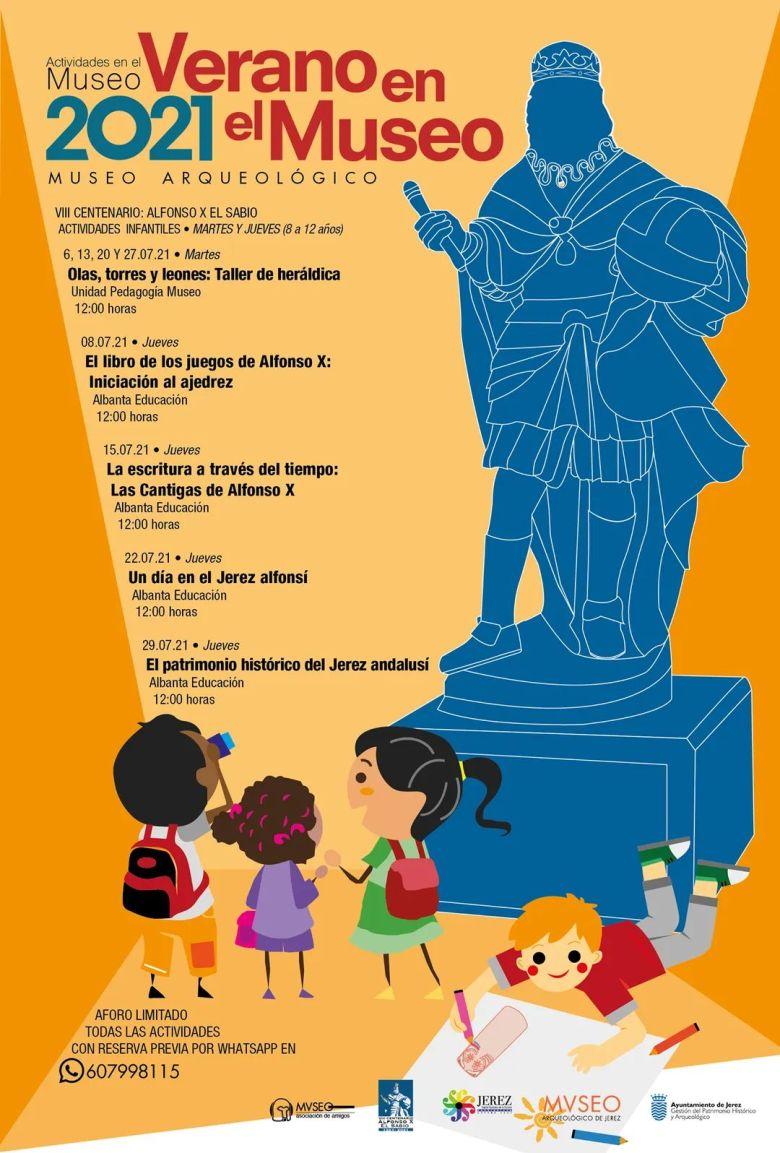 museo arqueologico jerez verano 2021 cartel infantil