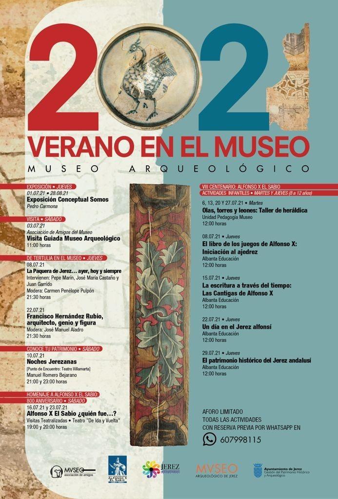 museo arqueologico jerez verano 2021 cartel