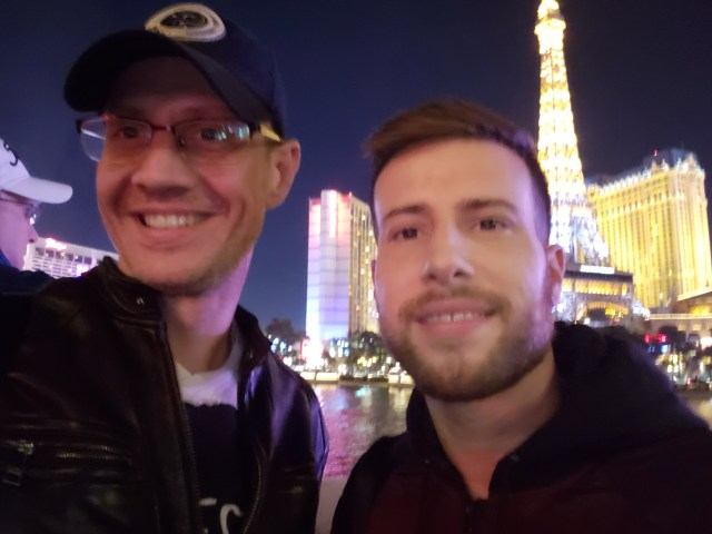 Yosi with the love of his life at the Vegas strip
