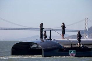 AC72 Wing step test / ORACLE TEAM USA / San Francisco (USA) / 29-08-2012