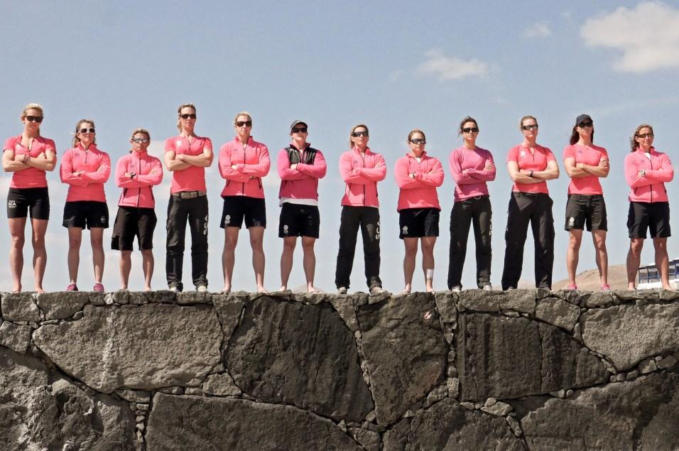 Team SCA 12 selected girls. March 2014 Lanzarote.Photo Annaleisha Rae/Team SCA