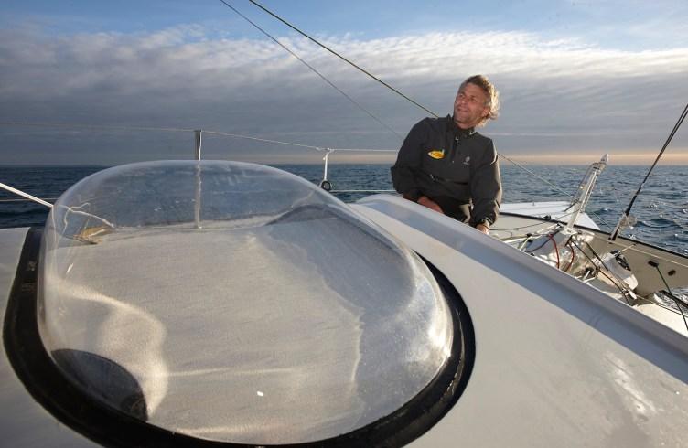Bernard Stamm et Jean Le Cam (FRA) à bord de l'IMOCA 60 Cheminées Poujoulat