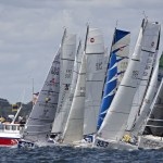 05-2014, DAY, OUTSIDE, LA TRINITE SUR MER, FRANCE, JOUR, SOLO, SINGLE HANDED, MINI EN MAI, CLASSE 6.50, MIN TRANSAT, START, DEPART, SNT