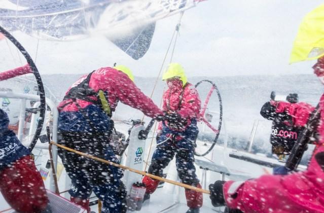 2014-15, Leg5, OBR, Team SCA, VOR, Volvo Ocean Race, onboard, splash
