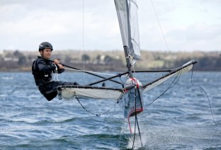 Brittany, FinistËre, Foil, Foiling Moth, France, FranÁois Gabart, Mer Concept, Moth, Port-la-ForÍt, action, adrenalin, adventure, adventurer, boat, color, competition, foiler, future, high performance, horizontal, marine, nautical, navigation, ocean, offshore, outdoor, portrait, racing, racing yacht, record, sail, sailboat, sailing, sailor, sea, sponsor, sponsoring, team, travel, vision, voyage, water, wind, yacht, yachting, yachtman, yachtmen, young, youth