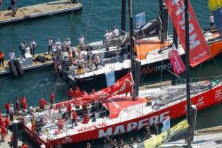 2014-15, VOR, Volvo Ocean Race, Race, crowds, Leg 7, Start, dock out, fleet
