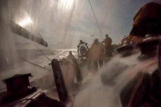 2014-15, Abu Dhabi Ocean Racing, Leg6, OBR, VOR, Volvo Ocean Race, onboard, night, splash