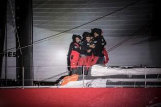 VOR, Volvo Ocean Race, 2014-15, Newport, arrivals, Dongfeng Race Team, celebration