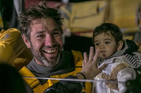 VOR, Volvo Ocean Race, 2014-15, Newport, arrivals, Abu Dhabi Ocean Racing, family, son, Simon Fisher, SiFi