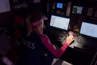 2014-15, ACTION, LEGS, Leg 6, OBR, Sam Davies, Team SCA, VOR, Volvo Ocean Race, gulf stream, onboard, nav, navigation desk