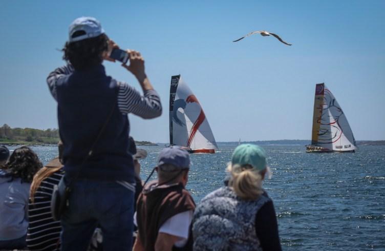 Volvo Ocean Race, 2014-15, VOR, Practoce Race, Newport, spectators